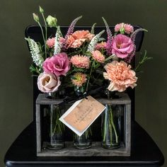 Unique Vase Arrangement in Pink and Peach Flowers. Floral Wedding, Wedding Flowers, Dish Garden, Order Flowers Online, Sympathy Flowers, Vase Arrangements, Floral Foam, Peach Flowers, Flower Delivery