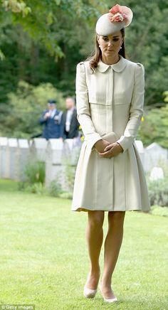8/4/14.   Catherine, Duchess of Cambridge at WWI Commemoration.