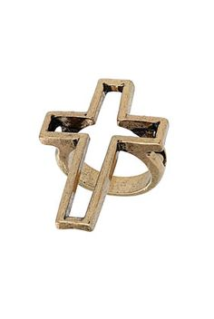 Cut Out Cross Ring