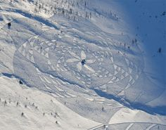 BEAUTIFUL GEOMETRIC SNOW SHAPES--New Snow Art by Simon Beck