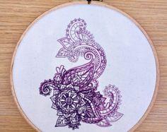 Mandala Indian bright embroidery hoop art by StitchesOfAnarchy