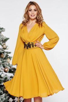 African Fashion Dresses, Midi Dresses, Mustard, Wrap Dress, Women's Fashion, Formal, How To Wear, Shopping, Beauty