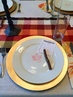 Spruce up a place setting by stamping the center of a white plate.