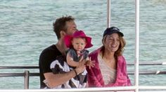 Blake Lively,Ryan Renolds and baby James