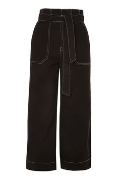 Stab Stitch Wide Leg Trousers