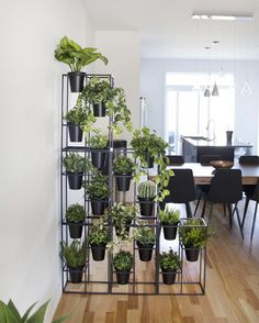 Black Metal Plant Stand with 3 Pots - Décors Véronneau Room With Plants, House Plants Decor, Plant Decor, Metal Plant Stand, Modern Plant Stand, Building A Small House, Decoration Plante, Flower Stands, Plant Shelves