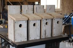 DIY Bluebird birdhouses. Learn how to build a bird house for bluebirds. A great afternoon project!