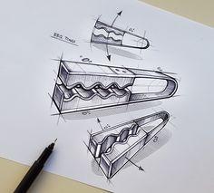 11 Clothes Peg Pencil Drawing Ideas - New Portfolio Design, Industrial Design Portfolio, Industrial Design Sketch, Line Sketch, Sketch A Day, Drawing Sketches, Pencil Drawings, Drawing Ideas, 3d Camera