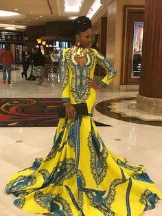 Yellow Dashiki Floor Length Maxi Dress, Dashiki Dress with Long train, Dashiki Ball gowns, African Ball Gowns, African Ball Dresses African Fashion Designers, African Inspired Fashion, African Print Fashion, Ethnic Fashion, Africa Fashion, African Prom Dresses, African Wedding Dress, African Fashion Dresses, Fashion Outfits