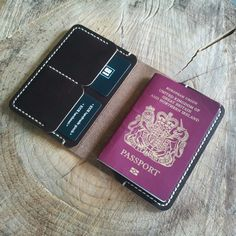Small Passport Wallet in Chromexcel