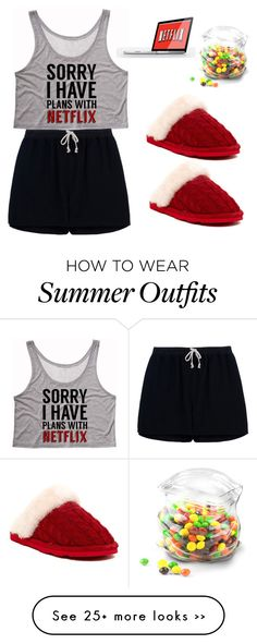 """Let's stay up late and watch Netflix"" by skylarxox on Polyvore featuring Rick Owens, Bearpaw and Dot & Bo"