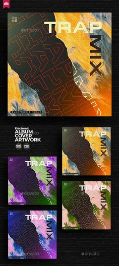 Trap Mix - Music Album Cover Template PSD