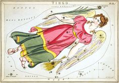 """""""Virgo"""", plate 21 in Urania's Mirror"""