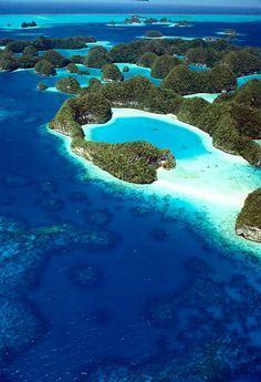 Palau, 191 square miles. Palau (also known as Belau) was a Trust Territory of Pacific Islands. It was formerly known as the Carolines and is composed of more than 200 islands in the Pacific. The population is about 20.000. It became independent in 1994