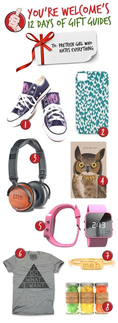 You're Welcome - [12 DAYS OF GIFT GUIDES] Gifts for the Pre-Teen Girl Who Hates Everything
