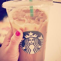 Summer is iced coffee and pink nails.