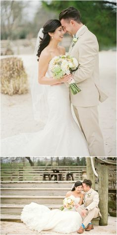 Spring wedding at @hvftn in Knoxville TN - love the cream suit for the groom!