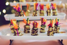 A Catered Affair wrapped up the baby veggies in grilled zuchinni