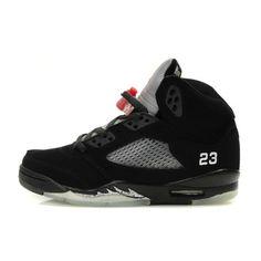 new arrival 4970d 5a2e5 Women Air Jordan 5 Black Varsity Red Metallic Silver ( 69) ❤ liked on  Polyvore