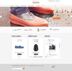 Swims website on Behance #webdesign #website #inspiration