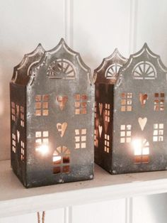 This is a very special zinc house tealight holder. A very pretty design, decorate your mantle pieces and window sills with a few Zinc tealight houses.Measurements approx:Height Width are buying 1 zinc house Home Candles, Candle Lanterns, Tea Light Candles, Tea Lights, Driving Home For Christmas, Tin House, Putz Houses, Noel Christmas, Tealight Candle Holders