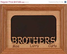 5x7 brothers picture frame holds 1 photo can be personalized with the name