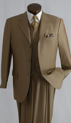 This 3pc Chocolate Stripe Suit Is Only $179.00. Professional Or Church            sprightenterprise.com