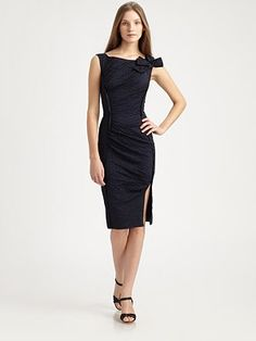 Curve-hugging little black dress from Nina Ricci.