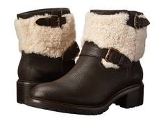 COACH Gabriella Shearling Natural Vintage Leather Boot