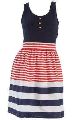 Nautical dress. Want for 4th of July