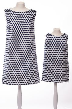 White and Nave Dot dress by The Same - the same clothes for mother and daughter, matching outfit.  www.thesame.eu