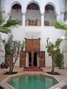 Riad Matham Le Riad, Most Beautiful, Beautiful Places, Moroccan Interiors, Small Ponds, Andalusia, Marrakech, My Dream Home, Morocco