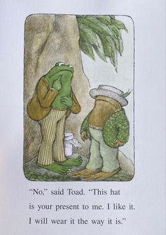 Toad and frog the hat