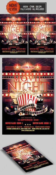 Traffic Light Party Nightclub Flyer Traffic light party, Flyer - movie night flyer template