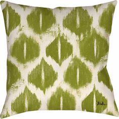 MOD Home Colored Ikats Green Pillow