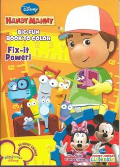 Handy Manny Big Fun Book To Color Fix It Power By Disney