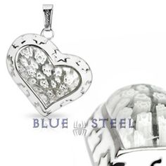 PIN IT TO WIN IT! Ghost Heart:  This Stainless Steel heart pendant will leave you in a trance with its epic designs its sparkling crystal finish will add to your beauty, with the slanting angles it stands out for its unique design, this flower hearted pendant will make you feel proud, wherever you go.     $39.00  www.buybluesteel.com