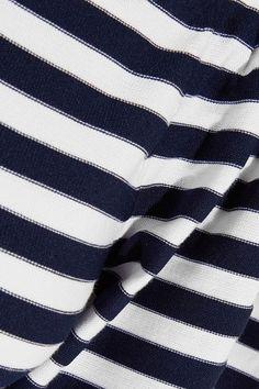 Sonia Rykiel - Striped Cotton-blend Top - Midnight blue - x large