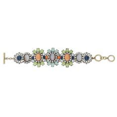 Heritage Blossom Statement Bracelet Featuring a luxe mix of gold sand glass over,...click thru to see!