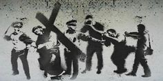 "Banksy graffiti art for Good Friday 2013, dubbed ""Stations of the Cross"""