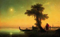 Вид на венецианскую лагуну - 1841 год