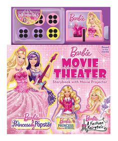 Love this Barbie Movie Theater Hardcover & Movie Projector Set by Barbie on #zulily! #zulilyfinds