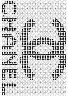 Alpha friendship bracelet pattern added by Tara. Crochet Diagram, Crochet Chart, Crochet Motif, Alpha Patterns, Loom Patterns, Knitting Patterns, Crochet Cushion Cover, Crochet Cushions, Cross Stitch Designs
