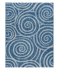 Take a look at this Indigo Geometric Swirl Rug today!