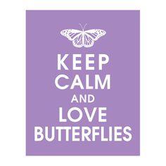 Keep Calm and Love Butterflies 11x14 Print by KeepCalmShop