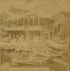 The Lincoln Park Boathouse, 1871 (Chicago Pin of the Day, 10/9/2015).