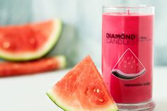 Watermelon Wedge Ring Candle by diamondcandles, I want one so badly!