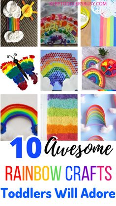 Rainbow Activities, Fun Activities For Toddlers, Rainbow Crafts, Craft Activities, Activity Ideas, Craft Ideas, Easy Preschool Crafts, Toddler Arts And Crafts, Craft Stick Crafts