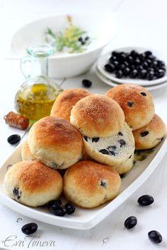 Buns with olives