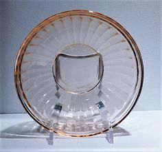 ITEM #RA-134 (Box R-) (1-4) Rare, scarce and hard to find pink depression glass cereal bowl in the Aurora pattern, produced by the Hazel Atlas Co circa late 1930s. Listing is for one bowl, but I have four available for purchase so you can add your quantity to your cart at check out. Bowl is 5 3/8 in diameter. Condition: All four are in very good vintage/antique condition with typical wear due to age and handling. I have three cobalt bowls available as well https://www.e...